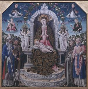 Primary view of Madonna and Child with Saints