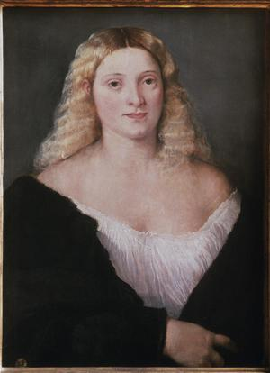 Primary view of object titled 'Young Lady in Black'.
