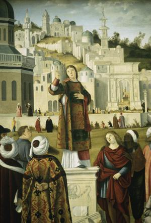 Primary view of The Sermon of St. Stephen in Jerusalem