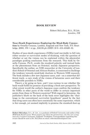 Primary view of object titled 'Book Review: Near-Death Experiences: Exploring the Mind-Body Connection'.