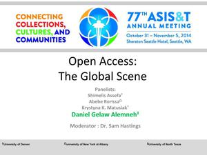Primary view of object titled 'Open Access: The Global Scene'.