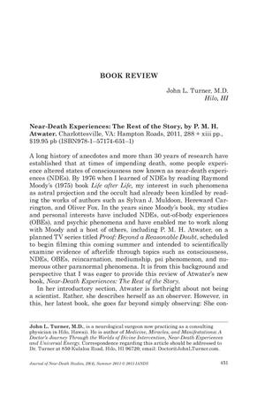 Primary view of object titled 'Book Review: Near-Death Experiences: The Rest of the Story'.
