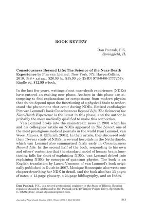 Primary view of object titled 'Book Review: Consciousness Beyond Life: The Science of the Near-Death Experience'.
