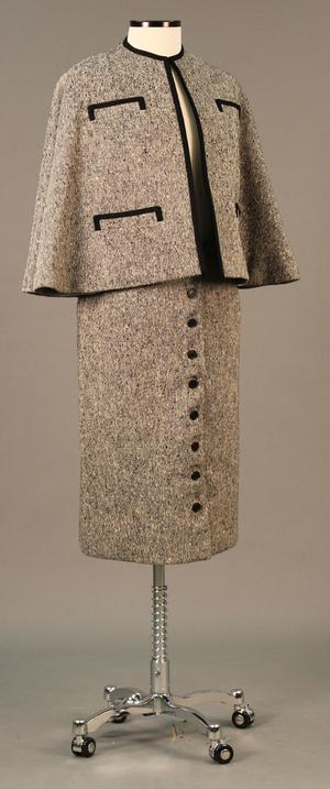 Primary view of object titled 'Ensemble - Cape and Skirt'.