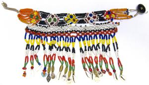 Primary view of object titled 'Necklace - Uzbekistan - Surxondaryo Province - Boysun Peoples Festival Outfit'.