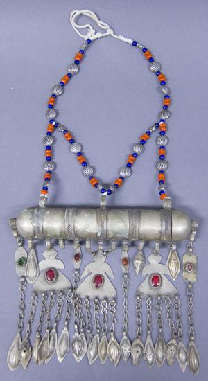 Primary view of object titled 'Necklace - Turkmenistan Festival Outfit'.