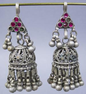 Primary view of object titled 'Earrings - Rabari Festival Attire'.