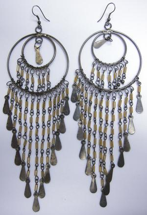 Primary view of object titled 'Earrings - Banjara Festival Attire'.