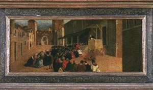 Primary view of object titled 'The Sermon of St. Dominic in Recanti'.