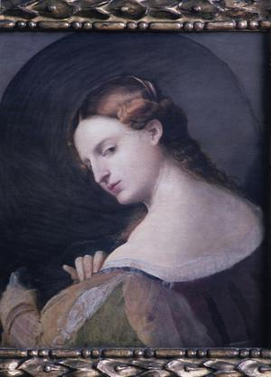 Primary view of object titled 'A Young Lady in Profile'.