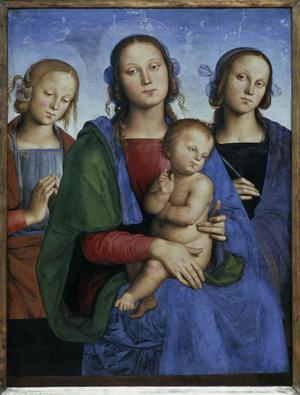 Primary view of Virgin and Child with Saints Rosa and Catherine