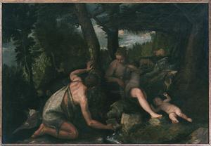 Primary view of object titled 'Adam and Eve After the Expulsion from Paradise'.