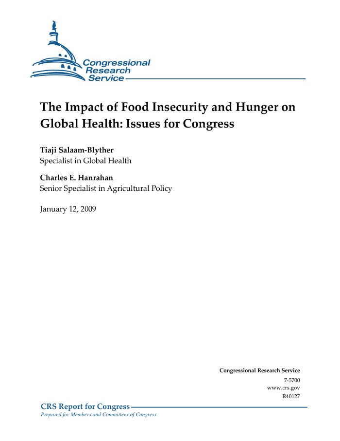 The Impact Of Food Insecurity And Hunger On Global Health Issues