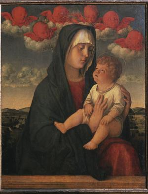 Primary view of object titled 'Madonna and Child with Red Cherubs'.