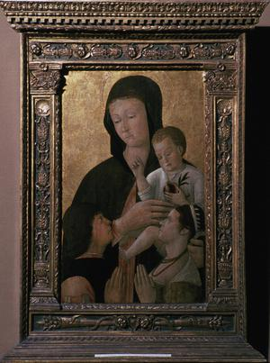 Primary view of Madonna and Child with Donors