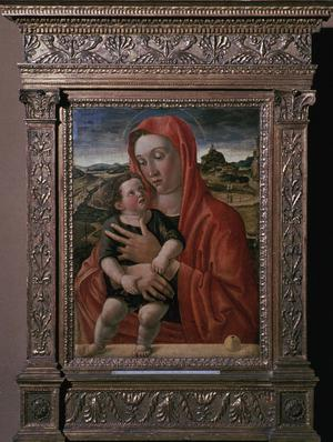 Primary view of object titled 'Madonna Supporting the Christ Child on a Parapet'.