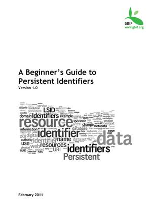 Primary view of object titled 'A Beginner's Guide to Persistent Identifiers'.