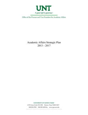 Primary view of object titled 'Academic Affairs Strategic Plan 2013-2017'.