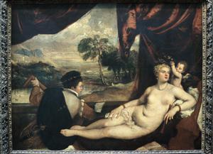Primary view of object titled 'Venus and the Lute Player'.