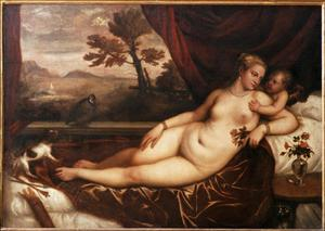 Primary view of object titled 'Venus and Cupid'.