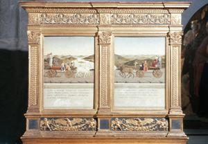 Primary view of Duke and Duchess of Urbino Reverse: Triumphal Procession