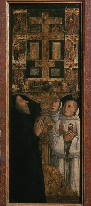 Primary view of object titled 'Cardinal Bessarion with a Reliquary of the Cross'.