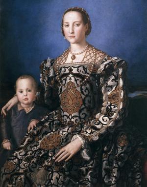 Primary view of Portrait of Eleonore of Toledo with Son Giovanni