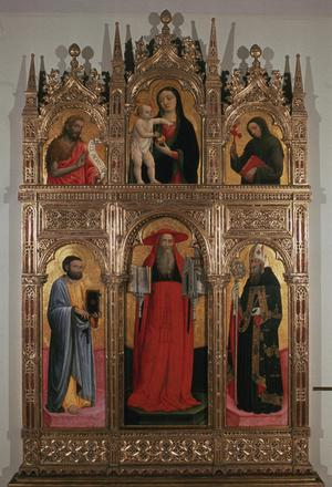 Primary view of object titled 'Altar of St. Jerome from San Stefano in Venice'.