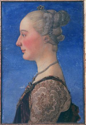 Primary view of object titled 'Portrait of a Young Lady in Profile'.