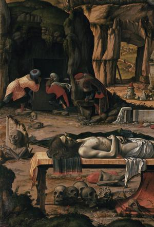 Primary view of object titled 'Preparation of Christ's Tomb'.