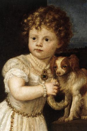 Primary view of object titled 'Clarissa Strozzi at the Age of Two'.