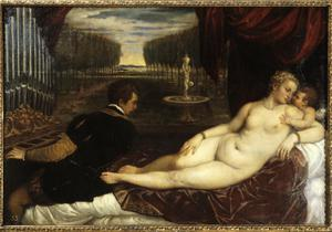 Primary view of object titled 'Venus and Amor with the Organ Player'.