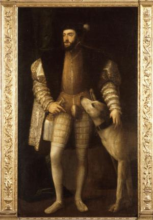 Primary view of object titled 'Full-Length Portrait of Charles V'.