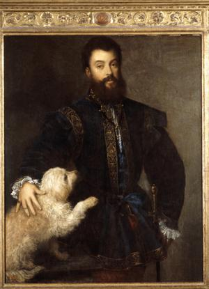 Portrait of the Duke of Mantua with His Dog