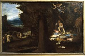 Primary view of object titled 'The Sleeping Apollo and the Muses'.