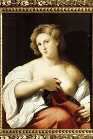 Primary view of object titled 'Young Lady with Bare Breast'.