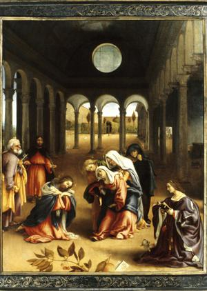 Primary view of object titled 'Christ Taking Leave of His Mother'.