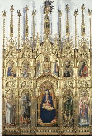 Primary view of Madonna and Child Enthroned with Eight Saints