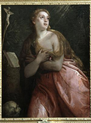 Primary view of object titled 'Penitent Mary Magdalen'.