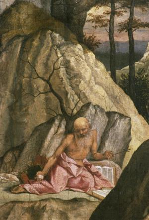 Primary view of object titled 'Penitent St. Jerome in the Wilderness'.