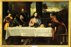 Primary view of object titled 'Supper at Emmaus'.