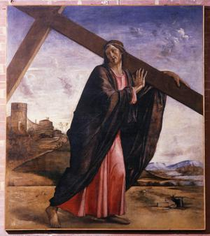 Primary view of Christ Carrying the Cross. Venice, Ss. Giovanni e Paolo, S transept
