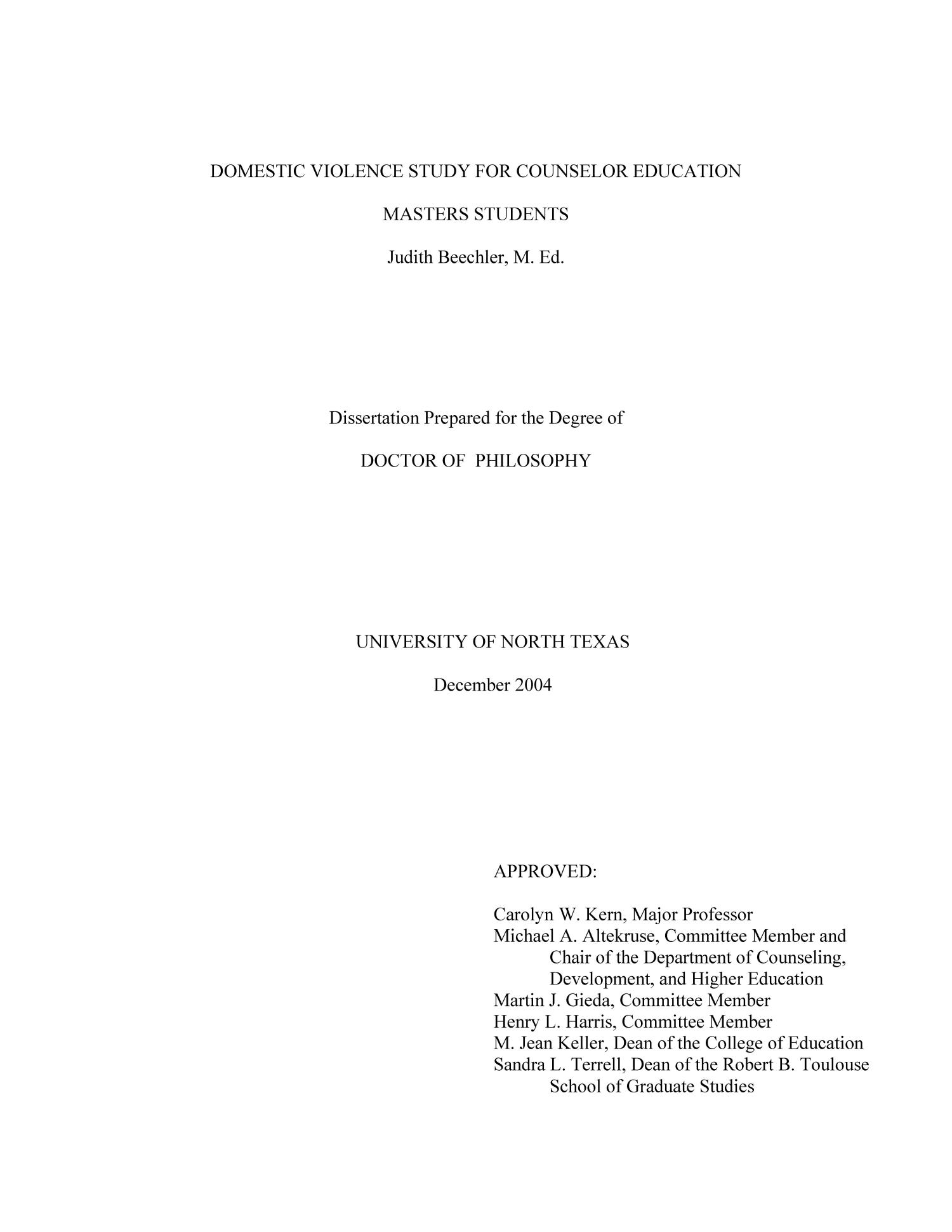 dissertation for masters