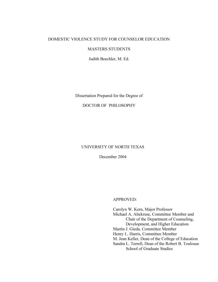 dissertation of m.ed