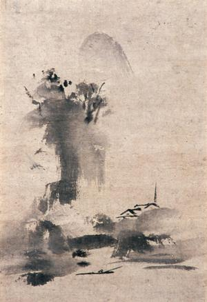 Primary view of object titled 'Haboku, Splashed Ink Landscape'.