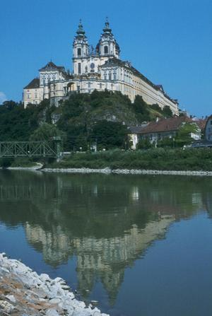 Primary view of Abbey and Abbey Church of Melk