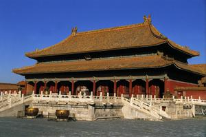 Primary view of Taihe Dian, Imperial Palace, Forbidden City. Ming and Qing Dynasties