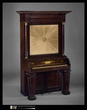 Primary view of object titled 'Upright Cabinet Piano'.