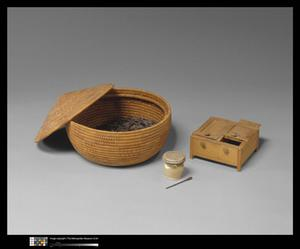Primary view of object titled 'Basket and Toilet Articles'.