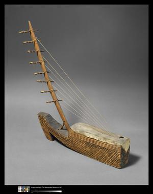 Primary view of object titled 'Arched Harp'.